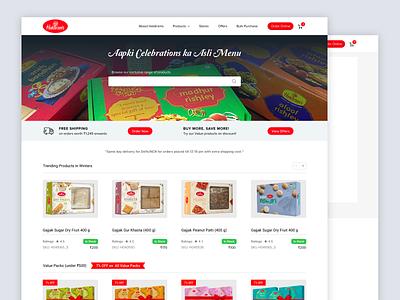 Haldirams Website Redesign Concept design web ui sketch