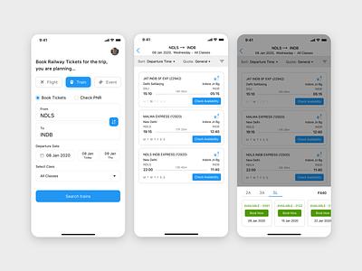 Booking App Concept - Train design iphone x ui sketch