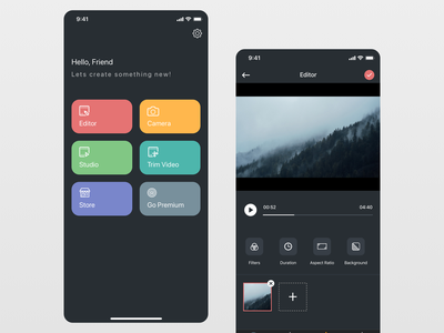 Video Editing App UI Concept editor dashboard app video editing design iphone x ui sketch