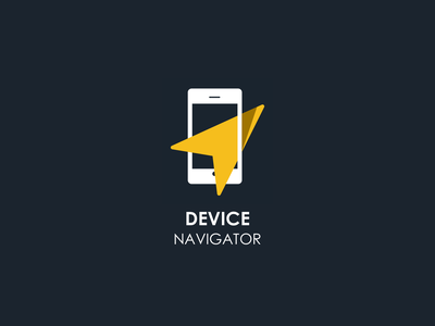 Device Navigator Logo branding device design sketch logo