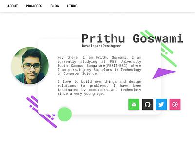 Portfolio Website web ui