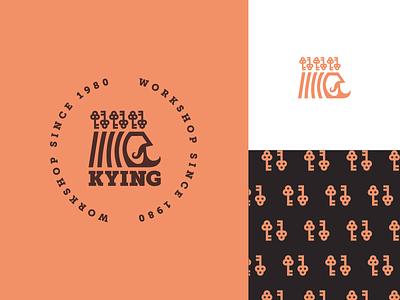 Key King vintage adobe illustrator adobe vector crown royal real estate key logo key king brand icon badge logo