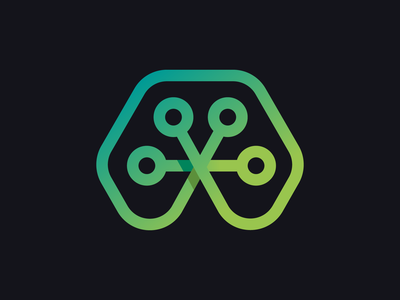 Tech Frog minimalist technology logo neon green green animal frog tech logo branding design adobe adobe illustrator vector logo