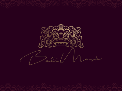 Bali Mask mask bali balinese spa logo brand adobe adobe illustrator vector logo
