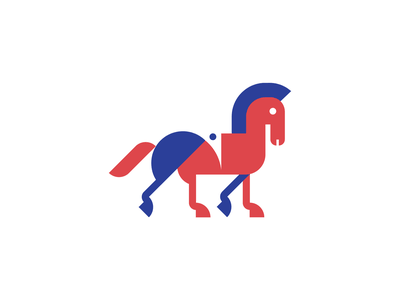 Puzzle Horse brand animal puzzle geometric horse logo horse adobe illustrator adobe vector logo