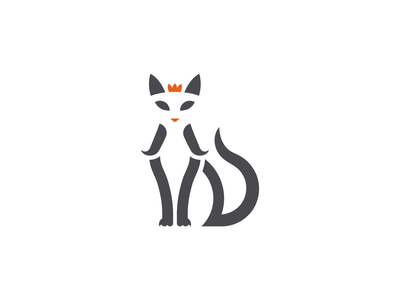 Cat Royalty cat logo cat minimalist animal adobe illustrator adobe vector logo