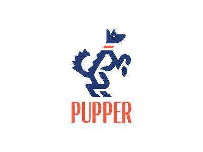Rampant Puppy retro logo design retro vintage heraldic rampant animal logo dog logo animal adobe adobe illustrator vector logo