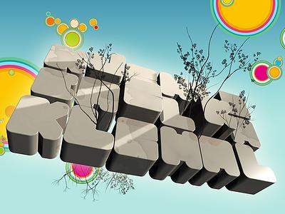 Fatletters blender3d typogaphy photoillustration 3d