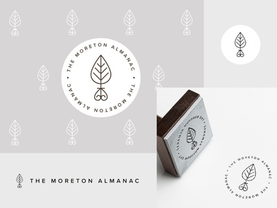 Moreton Almanac logo & brand minimalist floral badge vector logo