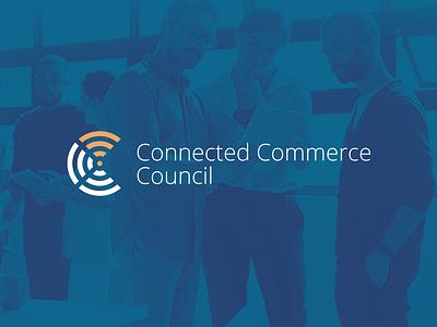 Connected Commerce Council web design brand design brand identity icon symbols wi-fi technology tech minimalism branding logo