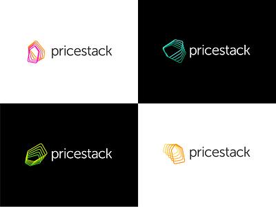 Pricestack Logo adobe icon adobe illustrator blend shapes colorful e-commerce modern generative dynamic identity dynamic vector logo
