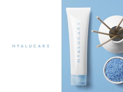 Hyalucare beauty product cosmetic packaging cosmetics minimalist typogaphy identity brand branding logo