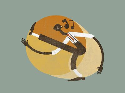 Feel Good Swing - Charleston Illustration lindy hop retro jazz vintage swing illustration
