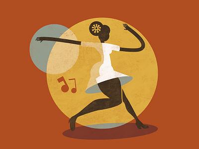 Feel Good Swing - Jazz Roots Illustration lindy hop retro jazz vintage swing illustration