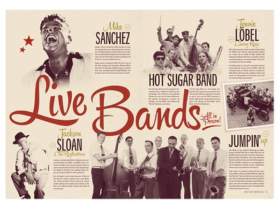 Rock That Swing Festival 2016 - Bands vintage retro music band jazz swing lindy hop editorial design festival dance dj