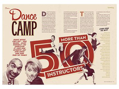 Rock That Swing Festival 2016 - Dance Camp vintage retro music band jazz swing lindy hop editorial design festival dance dj