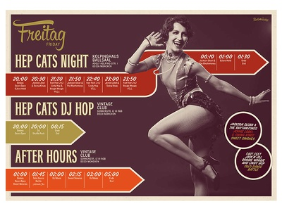 Rock That Swing Festival 2016 Schedule vintage retro music band jazz swing lindy hop editorial design festival dance dj