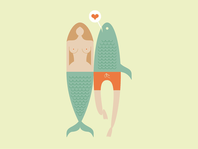Impossible Lovers vector minimal illustration st. valentines day