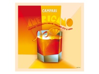 "Poster of cocktail ""Americano"" for Campari"