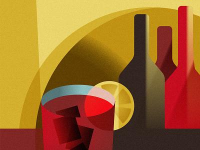 Vermouth vector affiche retro vermouth wine vintage illustration