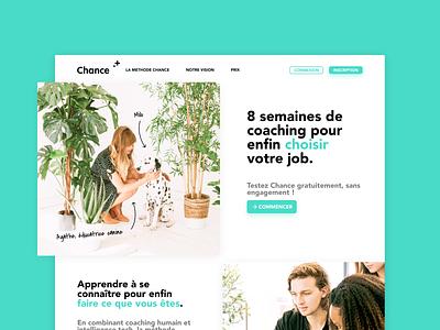 Chance.co Exploration product product design job hiring career psychology psytech coaching