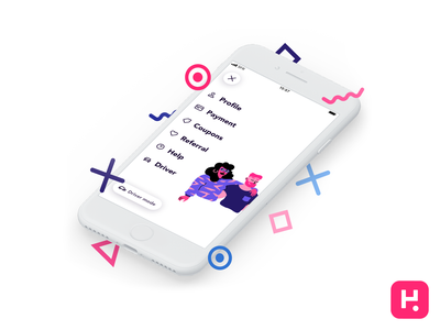Heetch App · Teaser minimalist product design ui app ios rider rideshare heetch uber ride hailing