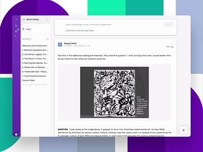 Direct Messaging for schools branding ui  ux product design webapp university students messaging dm slack