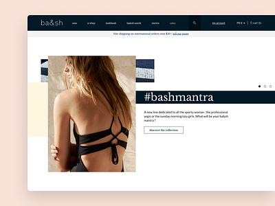 ba&sh online shop branding clothes agency webdesign website retail ecommerce shop ecommerce