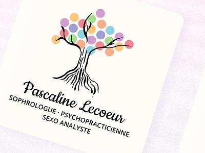 Sophrology Business Card chinese ink alternative medicine energy print business card brand design logo tree chakras yoga medecine sophrology