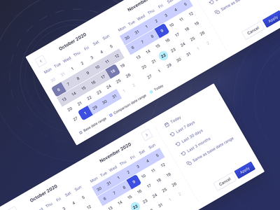 Double Date Picker analytics dashboard product design productdesign ui algolia timeline forms date range datepicker date picker