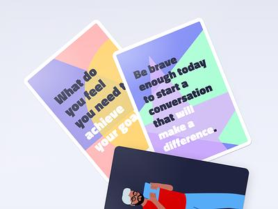 Motivational playing cards print branding quotes inspiration motivational motivational quotes motivation mantra playing card cards playing oracle