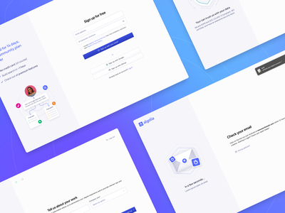 Sign up flow form design form field form product management search algolia ui product design register signin saas website saas design saas sign up signup
