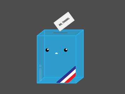We don't need you political round election french france