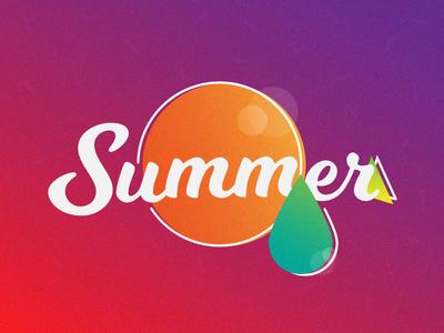 Summer illustrator spring summer colors sun water grain illustration