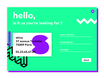 agency contact page card business stage page form contact agency