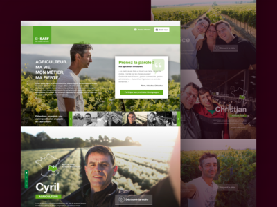 #MaViedAgri - BASF craft farming agriculture ui website nature