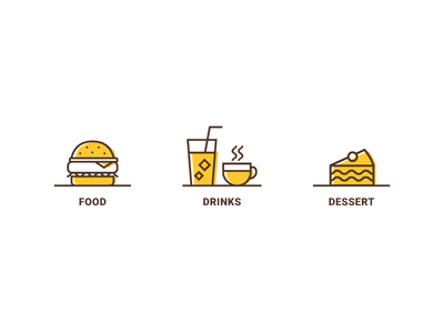 Food Icons food menu iconography webdesign ui icondesign icon