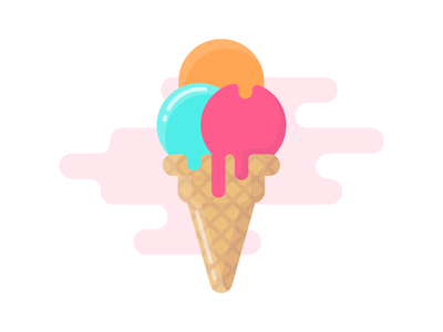 Ice cream beach fun summer icecream icon illustration vector flat iconography