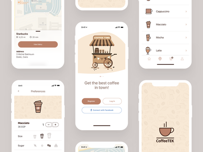 Coffee App Freebie coffeeshop takeaway freebie free delivery application app mobile ux ui coffee