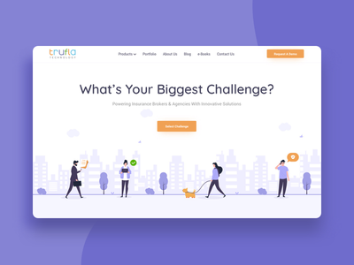 Trufla ux insurance website web deisgn landing page design ui