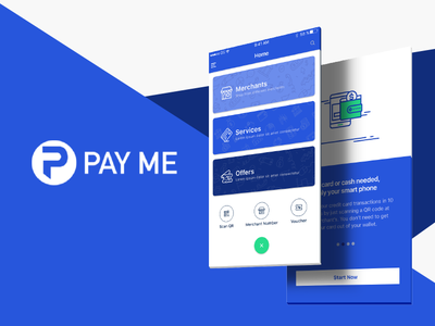 PAY ME payment app finance mobile app ux design ui