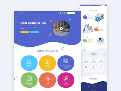 Qkit education app education learning interactive landing page uxui uidesign uxdesign ux ui webapp webapplication webdesign