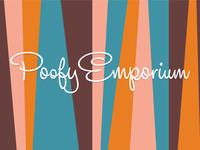 Poofy Emporium Logo Header retro