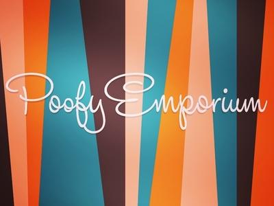 Poofy Emporium Logo Header retro exploration
