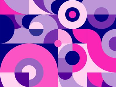 Geometirc pattern pink