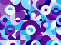 Geometric Blue Purple