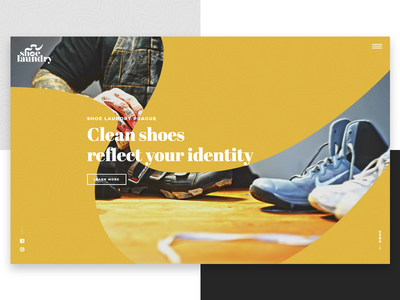 Shoe Laundry Prague - Hero shoes website design web ui startup layout page about