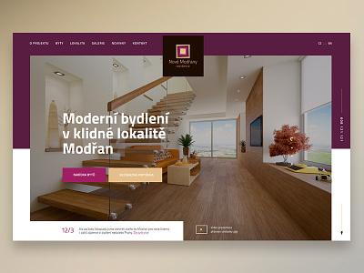 Residence Nove Modrany residence flat webdesign web ux ui czech interior house home architect architecture