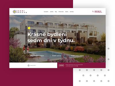 Apartment - Sedmi flats architect house apartment clean website web ui