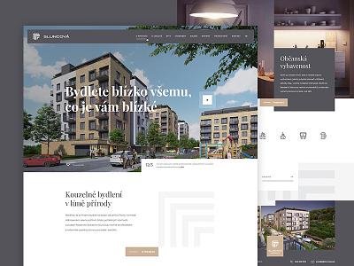 Sluncova - apartments clean living apartment house design website prototyping web